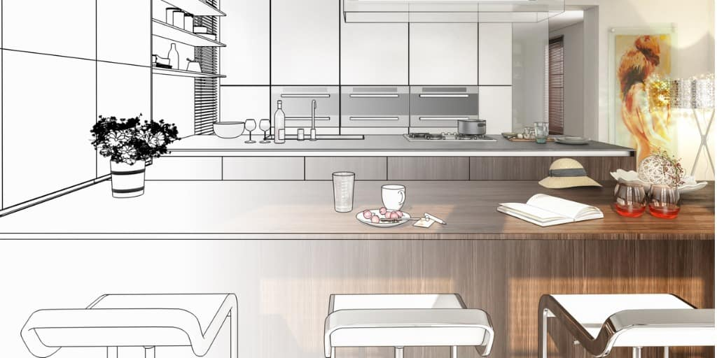 kitchen virtual staging