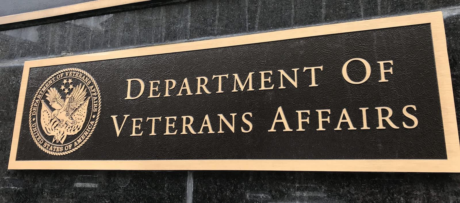 department of veterans affairs plaque