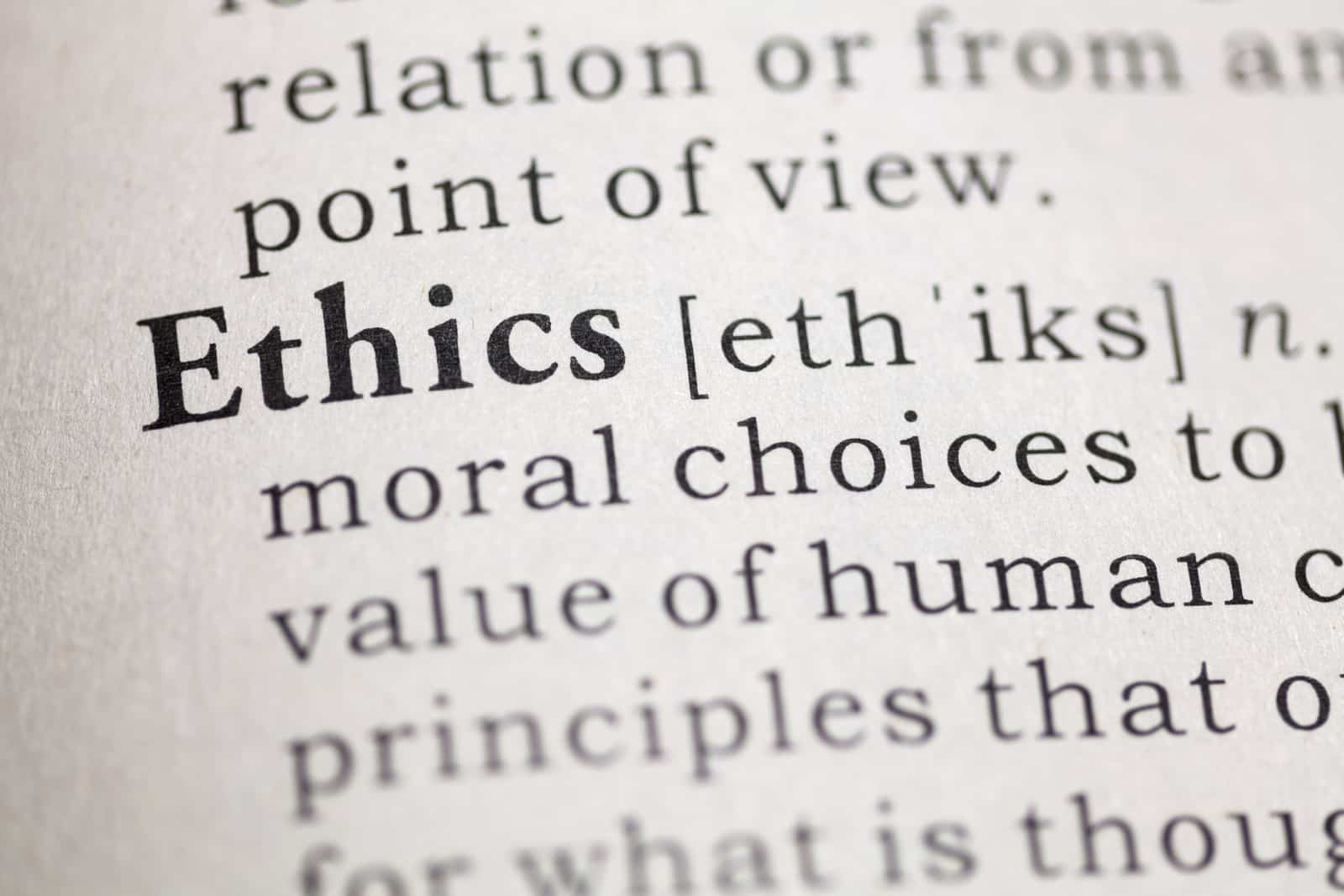 ethics in dictionary