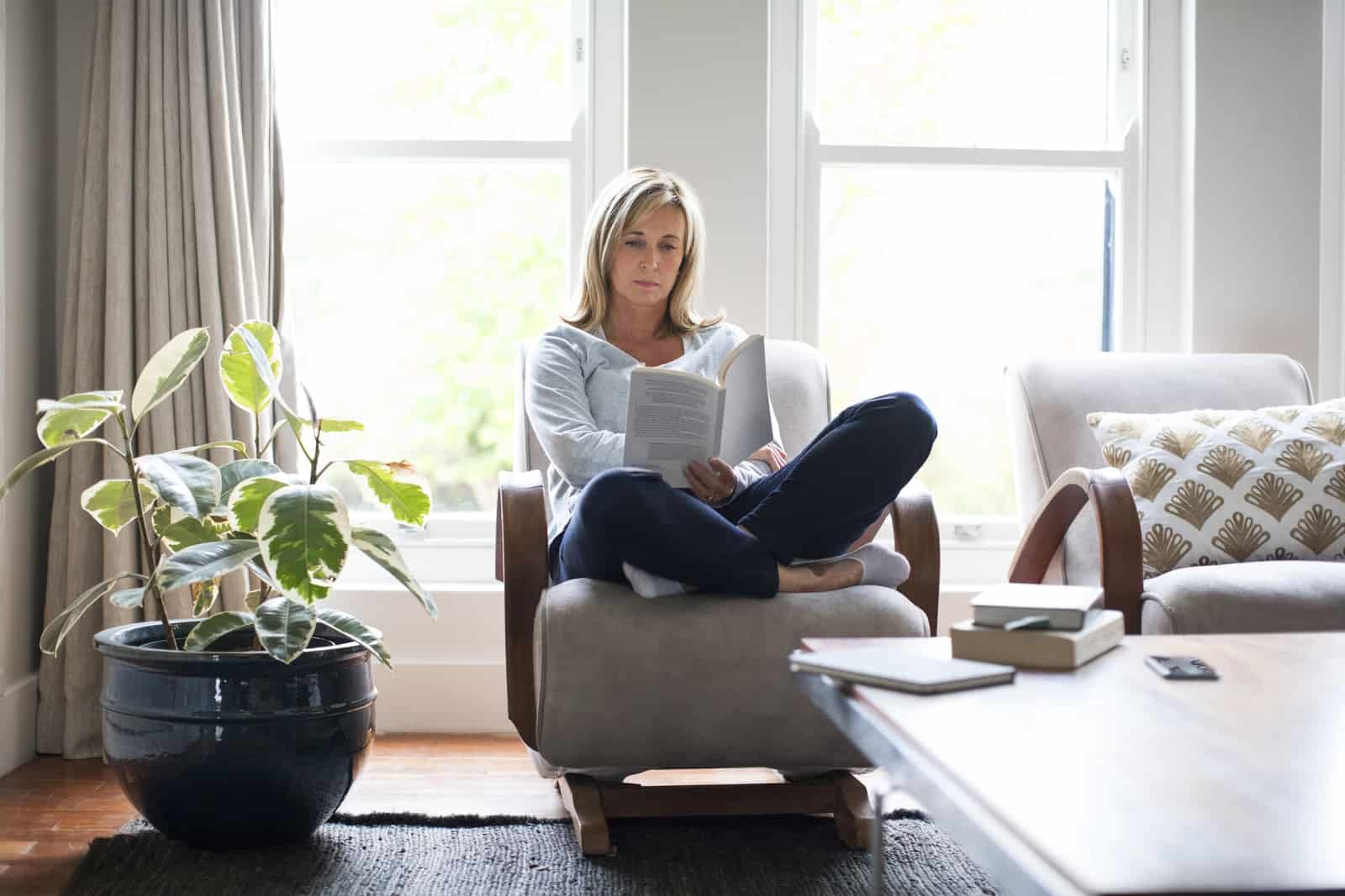 real estate broker reading book