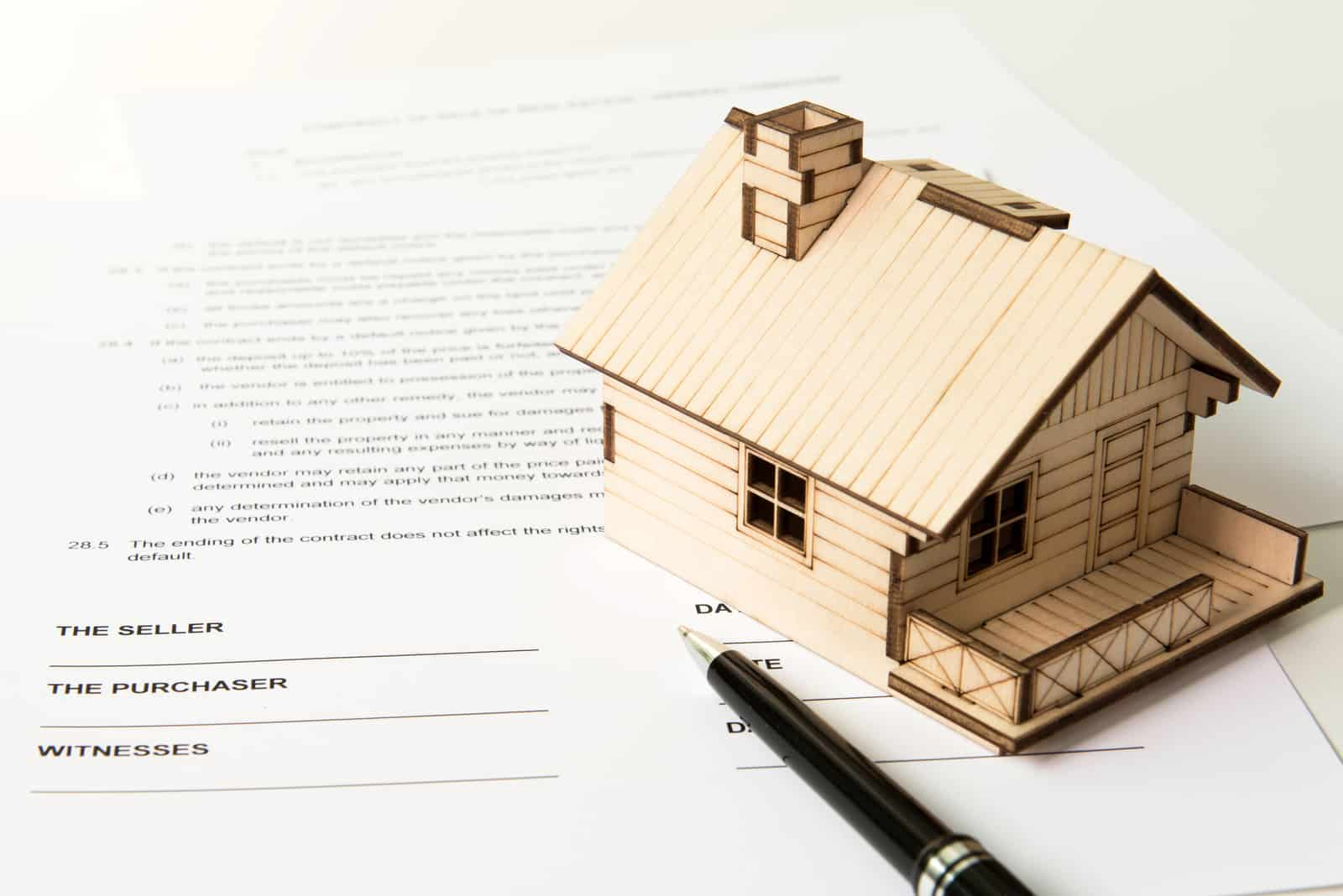 Sales contract for sale of real estate property